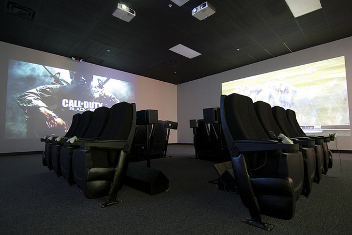 Video Game theater in the chaos room