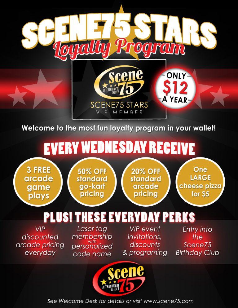 Scene75 Stars VIP Program