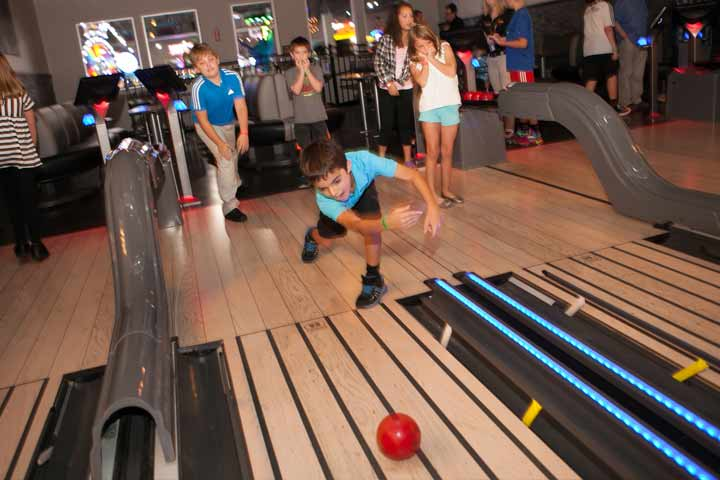 Private kids bowling party