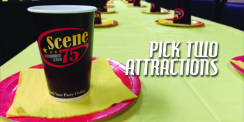 Build your own birthday party with two attractions at Scene75
