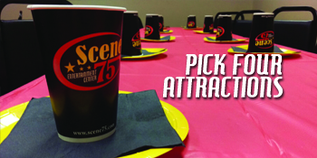 Host your birthday party with four incredible attractions at Scene75 Cincinnati