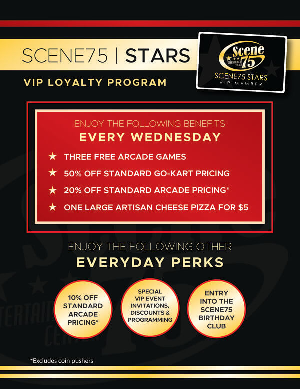 Stars VIP Loyalty Program - Scene75 Entertainment Centers