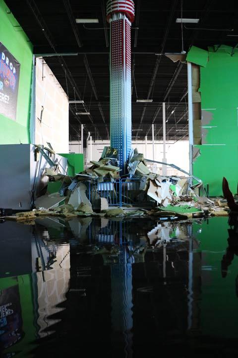 Debris laying on Drop Tower