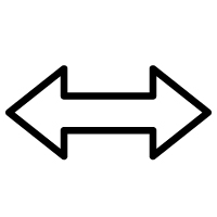 Arrows showing Distance